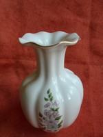 Zsolnay porcelán virágos váza