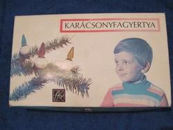Retro karácsonyfadísz csíptetős fényfüzér égő izzósor dobozában 16 db.-os - 2.