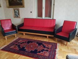 Retro  bútor piros-fekete