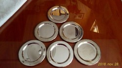 6 db fém poháralátét