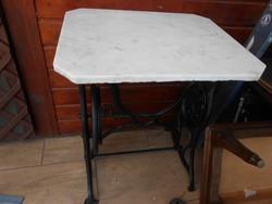 Antik varrógép asztal márvány lappal AKCIÓ