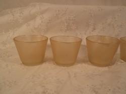 Mécsestartó - üveg - arany csillámos - 4 db - nagy 7,5 x 6 cm