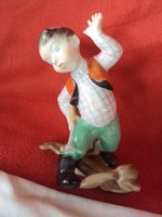 Herendi Nyuszi vadász porcelán figura