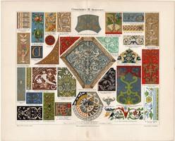 Díszitmény III., színes nyomat 1903, német nyelvű, litográfia, díszités, dísz, ornamentum, eredeti