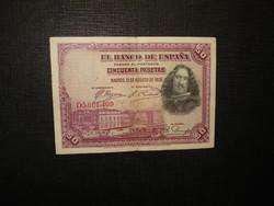Spanyolország 50 pesetas 1928 Velazquez