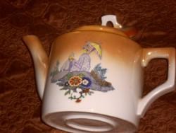 Zsolnay  ritka régi teás kanna