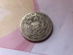 1876 Venezuela-1 Venezolano 25 gramm 0,900 Extra ritka!!!!