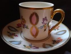 Kézzel festett porcelán csészék 2db
