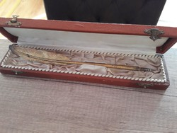 Csodás antik ezüst toll aranyozva 1900-as évek eleje John Michell's