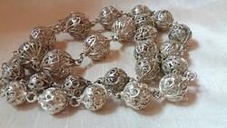Antik ezüst nyaklánc-collier