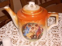 Zsolnay  antik jelenetes teás kanna