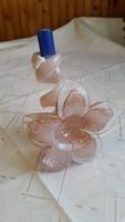 Különleges, virágszirmos, üveg gyertyatartó eladó!
