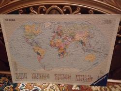 Világtérkép puzzle kép