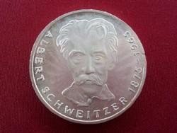 Nagyon szép ezüst Albert Schweitzer 5 márka 1975 G /3158/