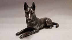M.Cerreti ritka ezüst (800-as) kutya figura 197gr. kb 130x70mm