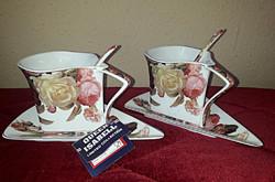 Limitált 2 személyes QUEEN ISABELL kávés,cappuccinós kollekció