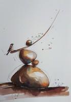 Zen with sparrow_Zen verébbel