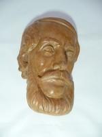 Dr. Rank Kossuth fali maszk kerámiája