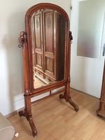 Tükör antik bécsi barokk álló tükör