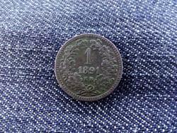 Nagyon szép 1 Krajcár 1891 Fiume címerrel!
