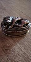 Csodás antik ezüst szelence