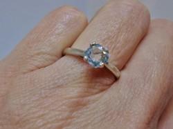 Szépséges valódi  0,7ct  Moissanite gyémántos ezüstgyűrű akció!!