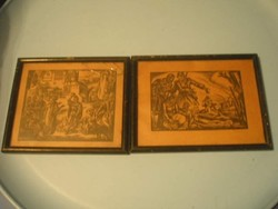 N8 Egyszer volt Budán kutya vásár ,és Miért 16,5x 14 cm Drahos 2 db képe