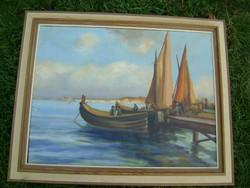 Antik festmény, A kikötő