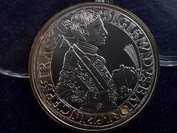 Báthory Zsigmond tallérja 1589 - Magyar tallérok utánveretben ezüst - Érem Művészeti Intézet