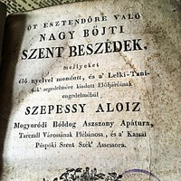 1828as meritett papírra nyomtatott Szepessy Aloiz  imakönyv