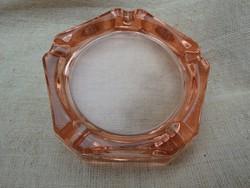 Rózsaszín üveg hamutál