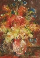 """Gyönyörű akvarell ingyen postával! Nemes Tibor """"Csendélet"""" c. keretezett akvarellje"""