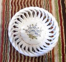 Herendi porcelán fonott kosárka