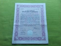 Államadóssági kötvény 500 pengőről 1942