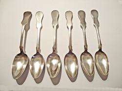 6 db. hegedűtok végű ezüst teás kanál