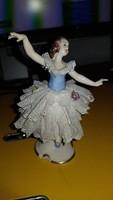 Volkstedt német porcelán balerina figura kb. 10 cm