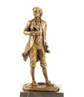 Wolfgang Amadeus Mozart - Osztrák klasszicista zeneszerző - kisplasztika bronz szobor
