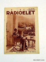 1936 június 12  /  RÁDIÓÉLET  /  RÉGI EREDETI ÚJSÁG Szs.:  7163