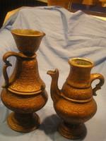 N15 Antik ó-arany belül majolika mázas kerámiák hatalmas formaszámos ritkaságok  egyben eladóak