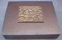Zsürizett kártyatartó kazetta doboz iparművész