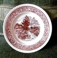 Barna fajansz tányérok