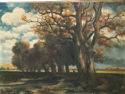 Antik szignózott festmény