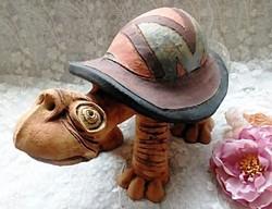 Vertel Andrea : Teknős kerámia szobor