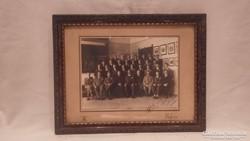 Üvegezett képkeret fotóval 1935 falc 24x32 cm