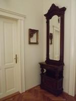 Antik keskeny bécsi barokk tükör