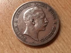 1900 porosz ezüst 5 márka 27,7 gramm 0,900 szép darab