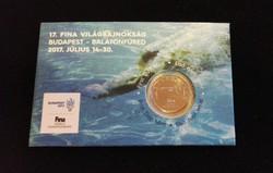 2017. évi FINA Világbajnokság 50 Ft emlékváltozat első napi veret