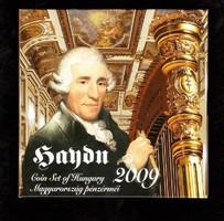 Haydn 2009 Proof forgalmi sor dísztokban ezüsttel PP