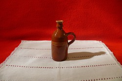 Pálinkás butykos, butella Csótár Rezső őrségi fazekas műhelyéből