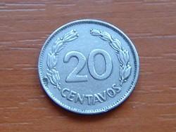 ECUADOR 20 CENTAVOS 1962 #